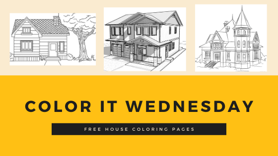 Color It Wednesday! (Free House Coloring Pages)